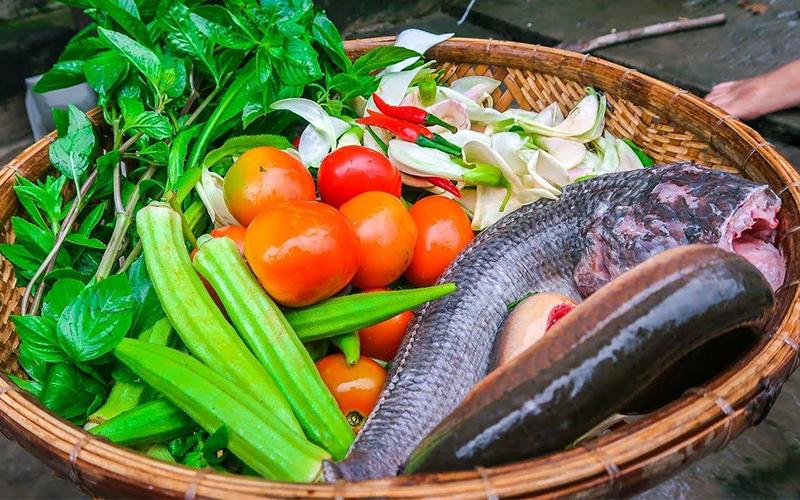 Cách nấu bún cá lóc - Nguyên liệu nấu