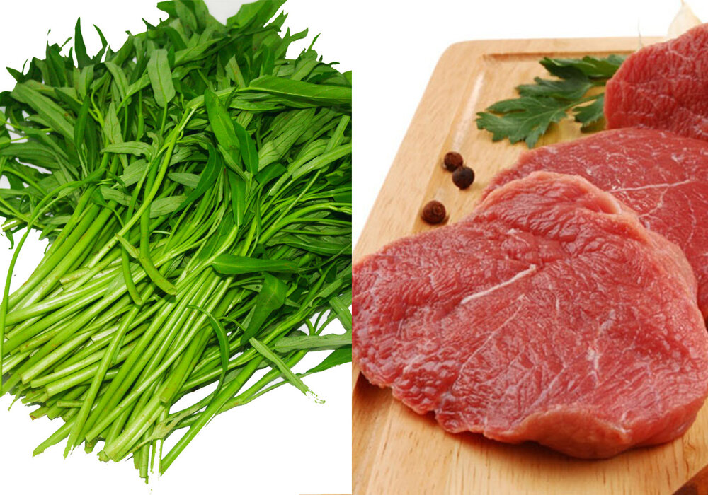 Cách làm rau muống xào thịt bò thơm ngon chuẩn nhà hàng - Ba Con Cừu