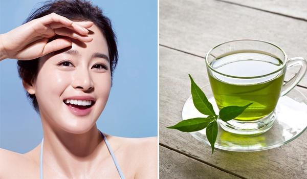 Uống chè xanh thường xuyên hỗ trợ chống lại tác nhân gây hại của ánh nắng